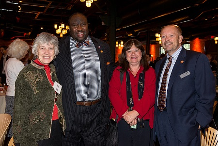 L to R: Representative Karen Clark, Senator Jeff Hayden, Hennepin County Commissioner Gail Dorfman and Chuck Peterson